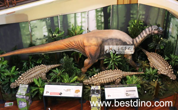 artificial fiberglass dinosaur statue for outdoor indoor