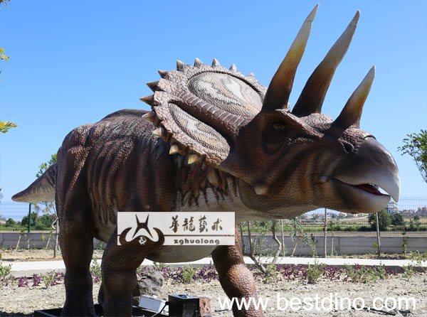 playground equipment-animatronics stegosaurus