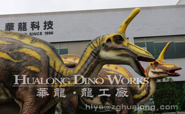 outdoor artificial fiberglass dinosaur model