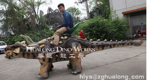 life size riding dinosaur
